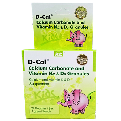 d cal calcium carbonate and vitamin k2 d3 granules a z